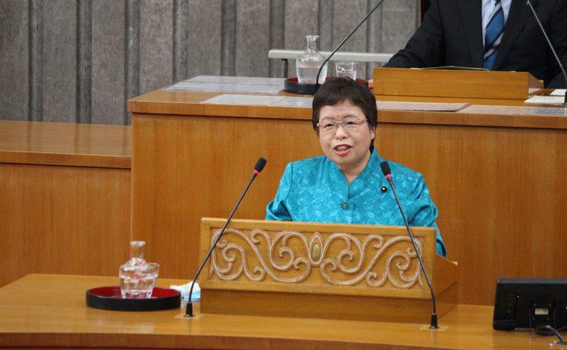 宮川えみ子県議代表質問と遠野町風車問題で知事に申し入れ